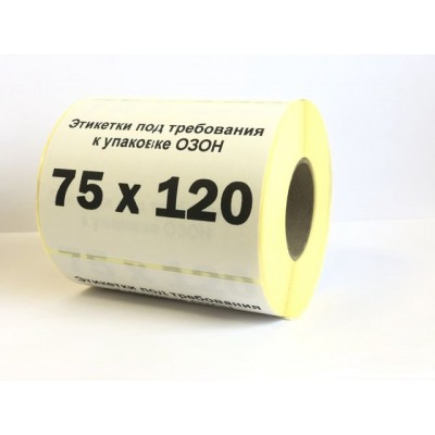 Этикетка Proton 75*120мм для OZON/ОЗОН полуглянец втулка 40